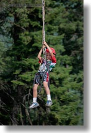 activities, america, clothes, hats, helmets, idaho, kid, nature, north america, plants, red horse mountain ranch, trees, united states, vertical, zip line, zipline, photograph