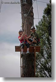 activities, america, clothes, hats, helmets, idaho, nature, north america, plants, red horse mountain ranch, sayle, trees, united states, vertical, zip line, zipline, photograph