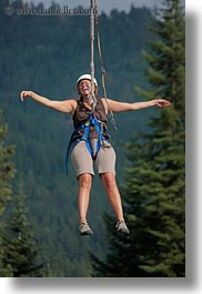 activities, america, clothes, hats, helmets, idaho, nature, north america, plants, red horse mountain ranch, tony, trees, united states, vertical, zip line, zipline, photograph
