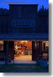 america, dusk, idaho, north america, red horse mountain ranch, saloon, united states, vertical, photograph