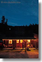 america, idaho, nite, north america, red horse mountain ranch, saloon, slow exposure, united states, vertical, photograph