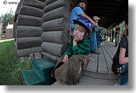 america, bored, clothes, fisheye lens, hats, helmets, horizontal, idaho, jack jill, jacks, north america, people, red horse mountain ranch, united states, photograph