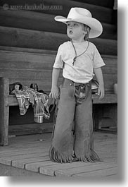 america, black and white, chaps, clothes, cowboy hat, hats, idaho, jack jill, jacks, lather, north america, people, red horse mountain ranch, united states, vertical, photograph