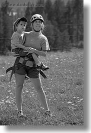 america, black and white, carrying, clothes, hats, helmets, idaho, jack jill, jacks, jills, north america, people, red horse mountain ranch, united states, vertical, photograph