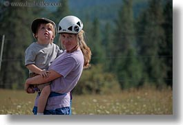 america, carrying, clothes, hats, helmets, horizontal, idaho, jack jill, jacks, jills, north america, people, red horse mountain ranch, united states, photograph