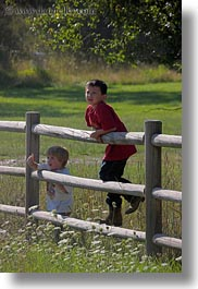 alex, america, boys, childrens, fences, idaho, jacks, north america, people, red horse mountain ranch, united states, vertical, photograph
