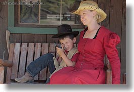 alex, america, boys, childrens, clothes, emotions, happy, hats, horizontal, idaho, north america, people, red horse mountain ranch, smiles, straw hat, suzanne, united states, photograph