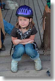 america, childrens, clothes, girls, hats, helment, helmets, idaho, north america, people, red horse mountain ranch, riding, united states, vertical, photograph