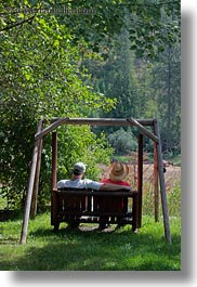 america, couples, idaho, north america, people, red horse mountain ranch, swings, united states, vertical, photograph