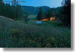 america, dusk, flowers, horizontal, idaho, long exposure, north america, red horse mountain ranch, scenics, united states, photograph