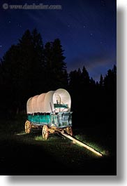 america, dusk, idaho, illuminated, long exposure, north america, red horse mountain ranch, scenics, stage coach, united states, vertical, photograph