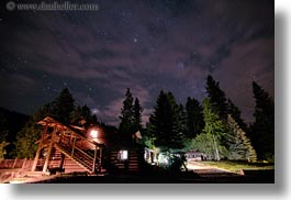 america, horizontal, idaho, lodge, long exposure, milky, north america, red horse mountain ranch, scenics, united states, way, photograph