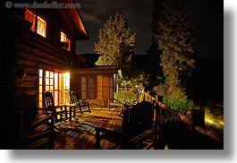 america, horizontal, idaho, lodge, long exposure, nite, north america, porch, red horse mountain ranch, scenics, united states, photograph