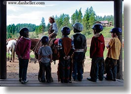 america, childrens, horizontal, idaho, north america, red horse mountain ranch, stables, united states, photograph