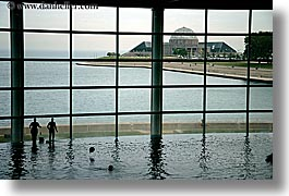 america, aquarium, chicago, horizontal, illinois, north america, silhouettes, united states, views, water, photograph