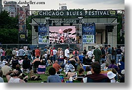 america, blues, blues festival, chicago, crowds, festival, horizontal, illinois, music, north america, people, united states, photograph