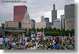 america, blues, blues festival, chicago, cityscapes, crowds, festival, horizontal, illinois, music, north america, people, united states, photograph