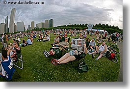 america, blues, blues festival, chicago, cityscapes, crowds, festival, fisheye lens, horizontal, illinois, north america, people, united states, photograph