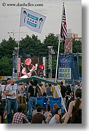 america, blues, blues festival, chicago, crowds, flags, illinois, music, north america, patrol, people, united states, vertical, photograph