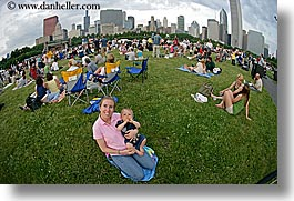 america, babies, blues festival, chicago, cityscapes, fisheye lens, horizontal, illinois, jack and jill, north america, united states, photograph