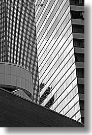 america, black and white, buildings, chicago, illinois, north america, skyscrapers, tights, united states, vertical, photograph