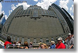 america, buildings, chicago, civic, fisheye lens, horizontal, illinois, north america, opera, people, united states, photograph