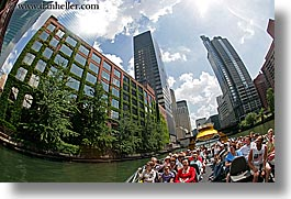 america, buildings, chicago, fisheye lens, great, historic, horizontal, illinois, lakes, north america, people, united states, photograph
