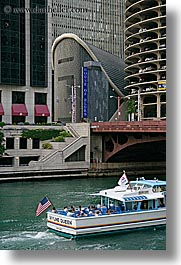 america, blues, boats, buildings, chicago, houses, illinois, north america, united states, vertical, photograph