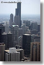 america, buildings, chicago, illinois, north america, sears, towers, united states, vertical, photograph