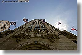 america, buildings, chicago, horizontal, illinois, north america, tribune, united states, photograph