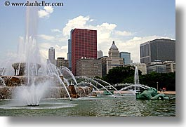 america, buckingham, chicago, cityscapes, fountains, horizontal, illinois, north america, united states, photograph