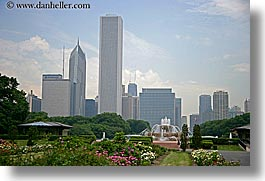 america, buckingham, chicago, cityscapes, fountains, gardens, horizontal, illinois, north america, united states, photograph