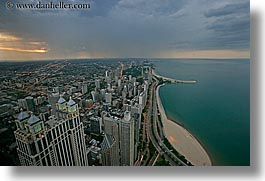 america, chicago, cityscapes, dusk, horizontal, illinois, lakes, north, north america, rain, slow exposure, storm, united states, views, photograph