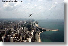 america, bug, chicago, cityscapes, clouds, horizontal, illinois, insects, north america, united states, windows, photograph