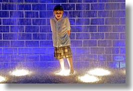 america, blues, chicago, crown fountains, horizontal, illinois, jacks, millenium park, north america, rain, united states, photograph