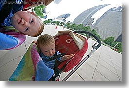 america, artwork, babies, boys, chicago, horizontal, illinois, jacks, millenium park, north america, reflections, reflecton, the cloud, united states, photograph