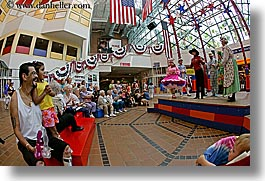 america, chicago, chorus, fisheye lens, horizontal, illinois, navy pier, north america, people, united states, watching, photograph
