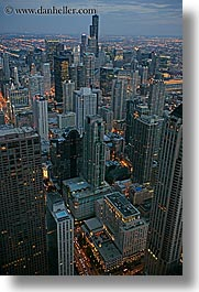 america, chicago, cityscapes, illinois, nite, north america, slow exposure, united states, vertical, photograph