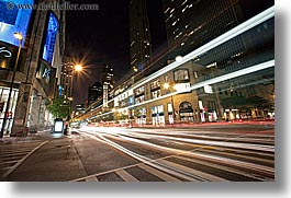 america, chicago, horizontal, illinois, lights, long exposure, motion blur, nite, north america, streaks, united states, photograph