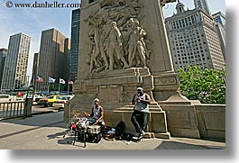 america, chicago, clarinet, drums, horizontal, illinois, men, music, north america, people, united states, photograph