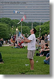 america, chicago, illinois, juggler, men, north america, people, united states, vertical, photograph