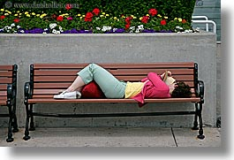 america, benches, chicago, horizontal, illinois, north america, people, reading, united states, womens, photograph