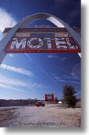 america, arches, midwest, missouri, motel, north america, united states, vertical, photograph
