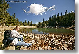 america, clouds, glacier trail, great basin natl park, horizontal, jills, lakes, nevada, north america, united states, western usa, womens, photograph