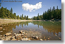 america, clouds, glacier trail, great basin natl park, horizontal, lakes, nevada, north america, united states, western usa, photograph
