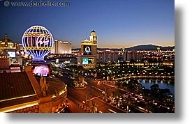america, casino, horizontal, hotels, las vegas, nevada, nite, north america, paris, slow exposure, the strip, united states, western usa, photograph