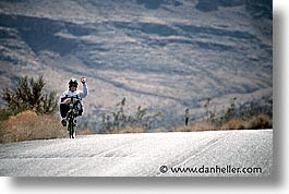 america, bikers, horizontal, nevada, north america, recumbent, red rock, united states, western usa, photograph