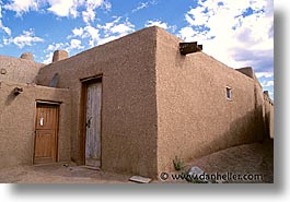 america, desert southwest, horizontal, houses, indian country, new mexico, north america, pueblos, southwest, united states, western usa, photograph