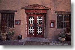 america, anasazi, architectures, desert southwest, horizontal, hotels, indian country, new mexico, north america, santa fe, southwest, united states, western usa, photograph