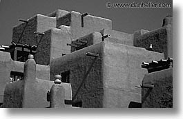 america, architectures, black and white, desert southwest, horizontal, indian country, new mexico, north america, santa fe, southwest, united states, western usa, photograph